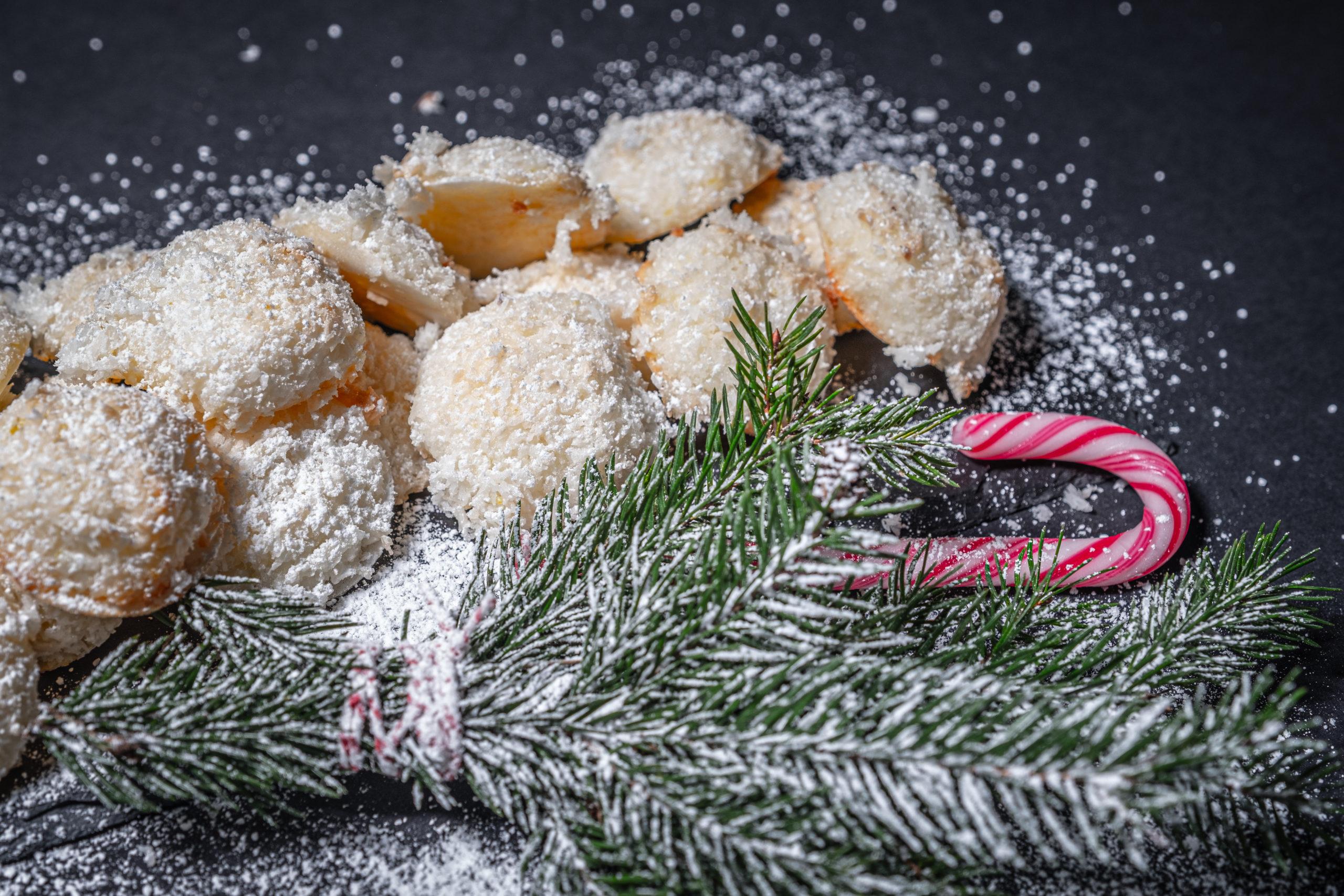 Kokosmakronen zu Weihnachten für Kunden