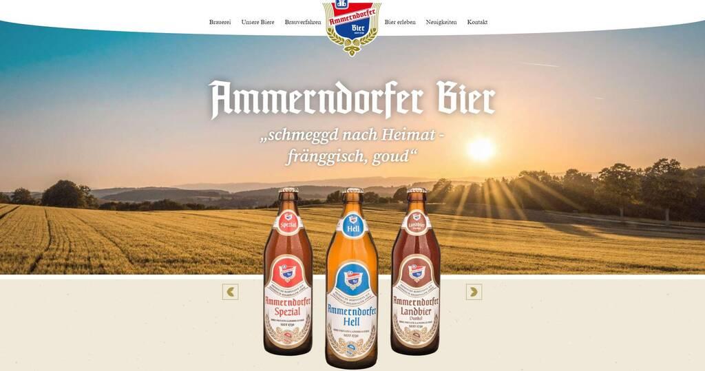 Webseite Ammerndorfer Bier Relaunch