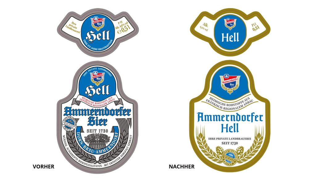 Ammerndorfer Bier Etiketten Design