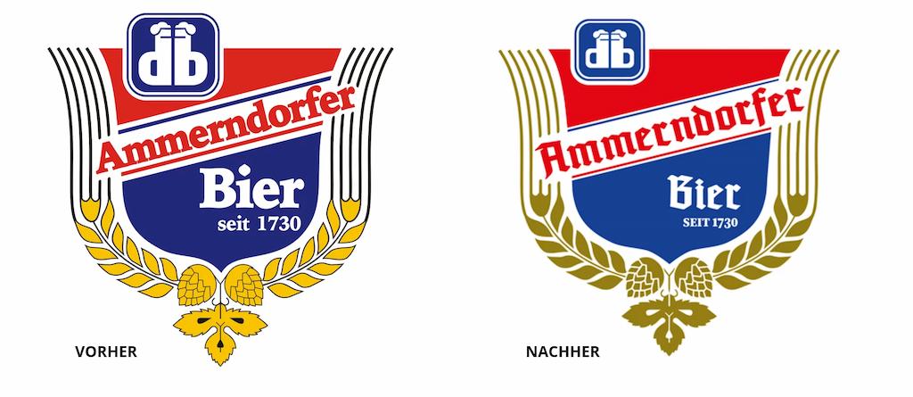 Ammerndorfer Bier Logo vorher nachher