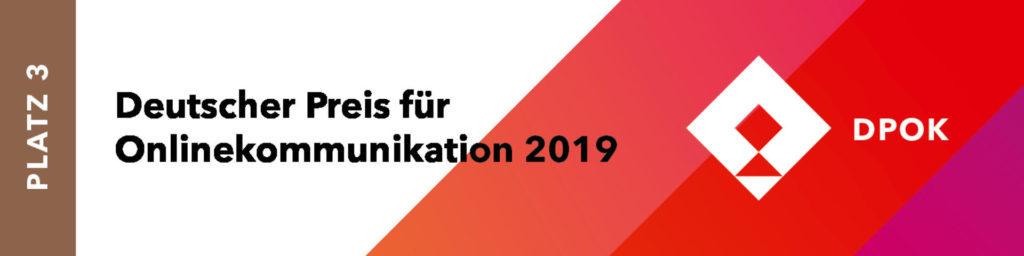 BESONDERS SEIN gewinnt beim Deutschen Preis für Onlinekommunikation 2019