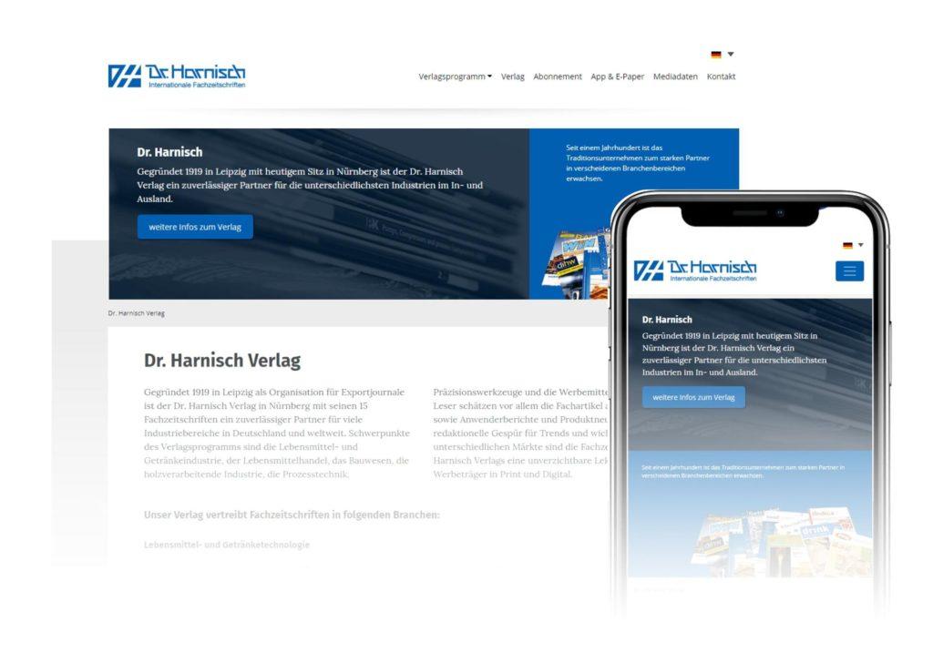BESONDERS SEIN UX-Design Website Dr. Harnisch Verlag