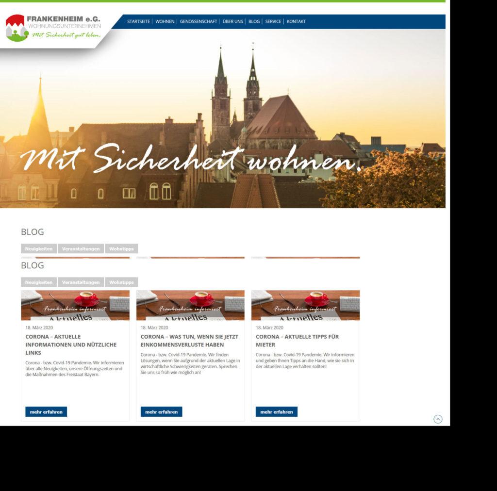 Screenshot Frankenheim Website
