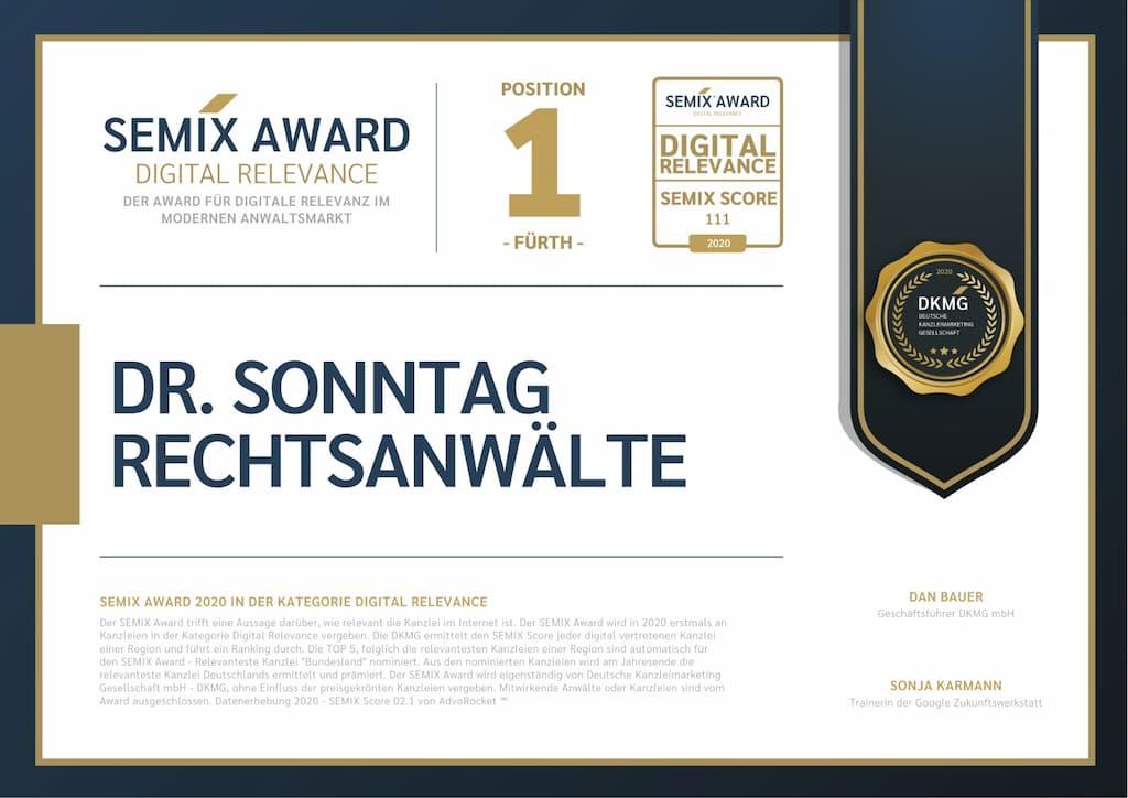 Semix Award für digitale Relevanz