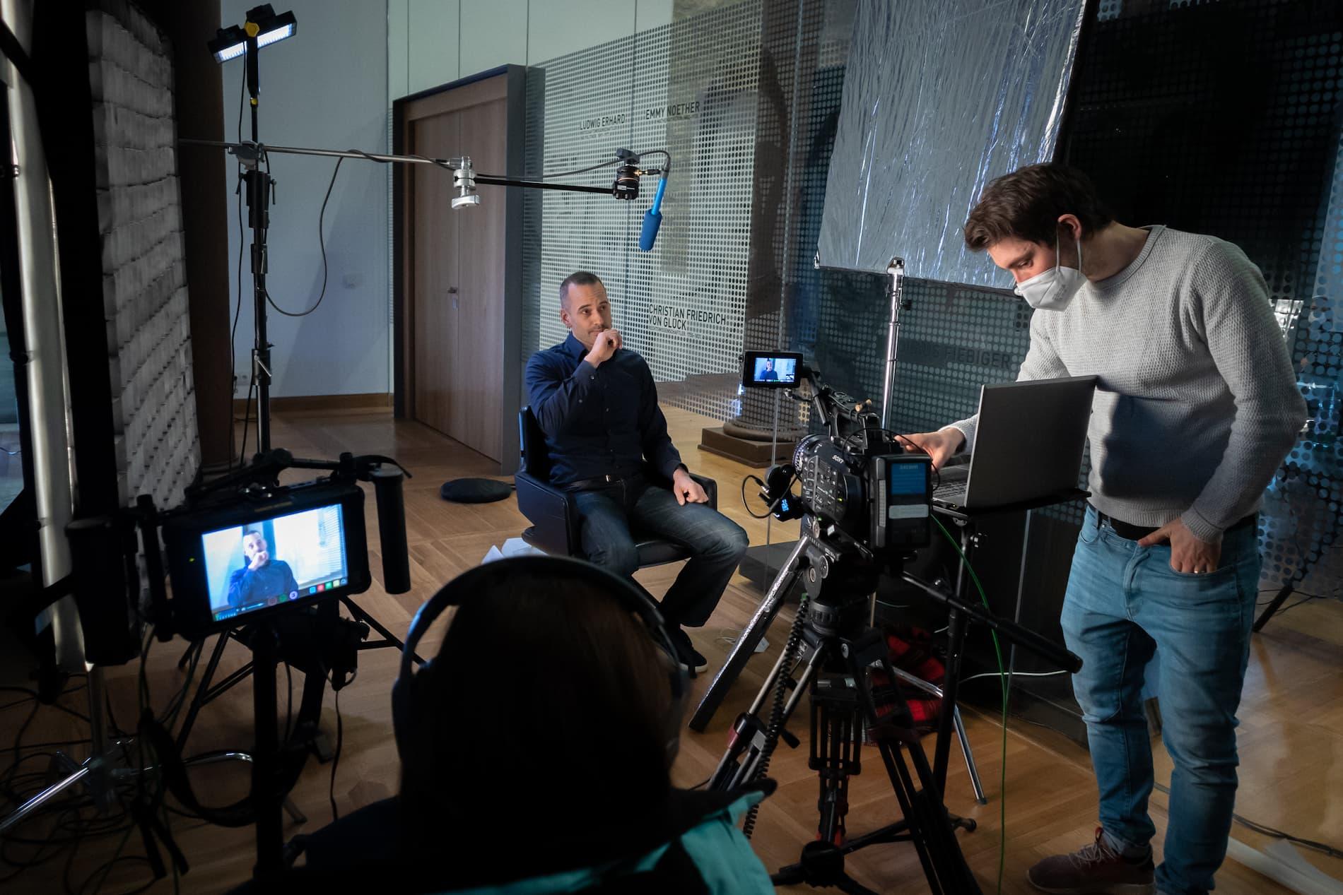 Videodreh mit Kunden